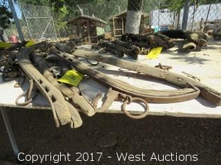 (3) Old Horse Bridle Pieces
