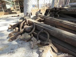 (4) Old Horse Bridle Pieces with Neck Halter