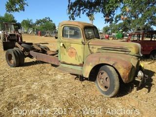 Ford Former Military Truck with Flat Bed and 6 Cylinder Motor
