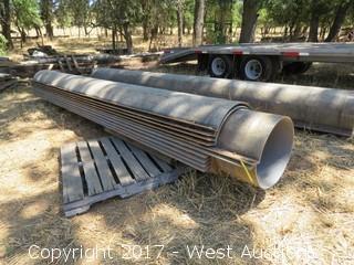 (5) Fiberglass Concrete Forms for Large Freeway Type Columns