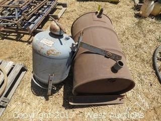 50 Gallon Fuel Tank and Sand Blaster Tank
