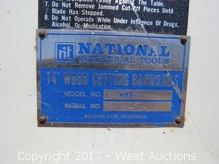 "National 14"" Wood Cutting Band Saw"