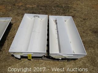 (2) Three-Bulb Light Fittings