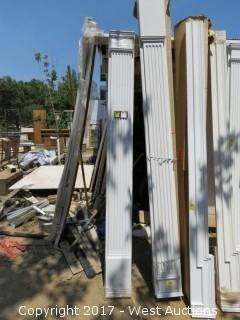 """(4) Fluted Poly Pilasters - 8' x 9"""""""