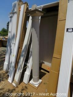 """(1) Round Fluted Column with Base and Top 6' x 7"""""""