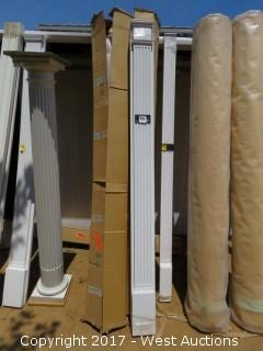 """(4) Fluted Poly Pilasters 8' x 7"""""""