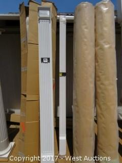 """(2) Fluted Poly Pilasters 8' x 4"""""""