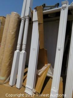 """(4) Fluted Poly Pilasters 8' x 9"""""""
