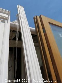 """(2) Fluted Poly Pilasters with Bases 9' x 5"""""""