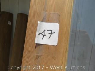 """Wood and Glass Pane Door 95"""" x 41.5"""""""
