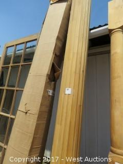 """(2) Full Round Fluted Real Wood Columns 10' x 10"""""""