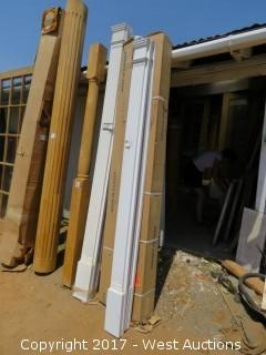 """(6) Fluted Poly Pilasters 8' x 6"""""""