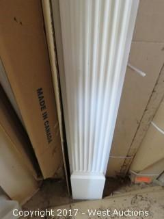 """(2) Fluted Pair of Cornices 7.5' x 8"""""""
