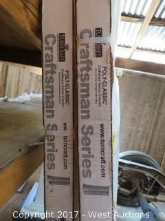 (2) Sets 8' High, Poly-Classic Craftsman Series Tapered Pilaster Columns