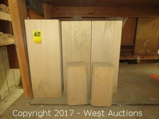"""(9) Solid Wood Blocks for Pilasters 5.5"""" x 5.5"""" x 14"""""""