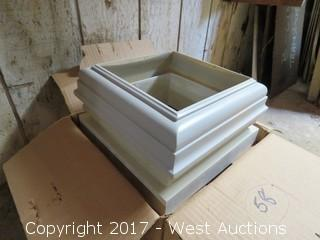 "(5) Sets 8"" Square Cap Bases and Tops for 8"" Columns"
