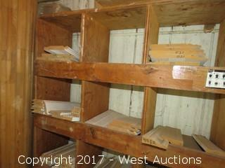 Display Cabinet with Contents - Posts Tops for Stairs, Crown Molding Pieces