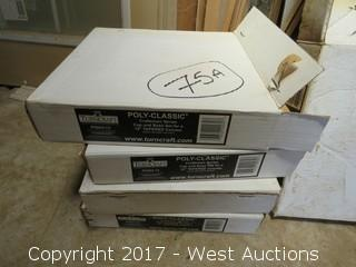 """(4) Boxes Poly-Classic Craftsman Series Cap and Base Set for 12"""" Tapered Column"""