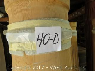 """(2) Full Smooth Round Real Wood Columns 68"""" x 9"""""""