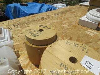 (2) Wooden Column Plugs