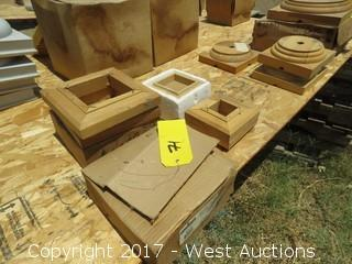 (5) Various Wood Column Bases and Tops