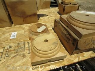 (6) Various Wood Column Bases and Caps