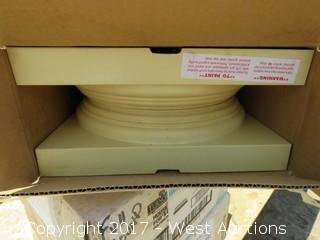 "(4) Boxes of House 10"" Base Poly for Columns"