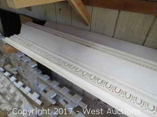(2) Large Decorative Poly Crown Molding