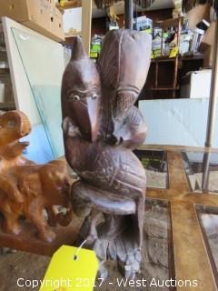 (2) Asian Wood Carvings