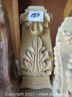 (3) Assorted Wood Corbels