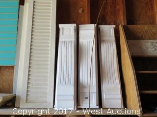 (4) Poly Fluted Corbels