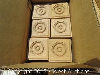 (18) Oak Corner Blocks