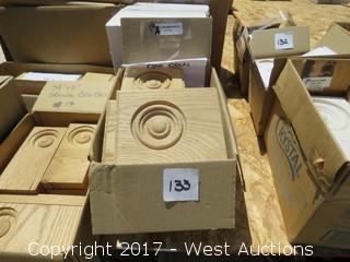 (16) Oak Door Base Blocks