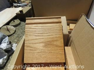 (6) Oak Stairway Base Blocks
