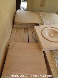 (52) Oak Corner Blocks