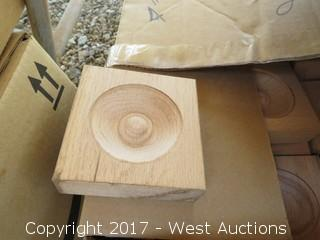 (24) Oak Corner Blocks