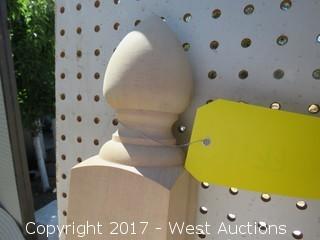 (2) Hemlock Cone Pointed Top Newels