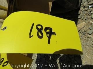 (2) Hemlock Cone Topped Half Round Newels