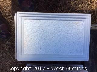 """(25) Marble Decorative Wall Mountings - 8"""" x 12"""""""