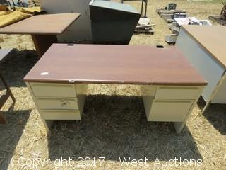 (3) Office Desks and (1) Conference Table