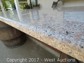 (6) Counter Top Slabs of Granite - Bull Nosed on 3 Sides