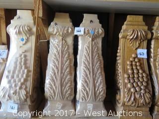(2) AlderWood corbels with Leaf Design