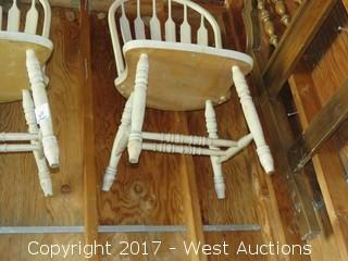 (2) Bleached Wood Chairs