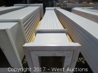 (1) Poly Fluted Column