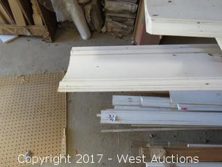 Miscellaneous all white pre-coated Crown Molding/Chair Railing