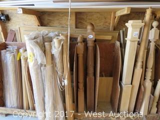 Wood Fluted, Turned Acorn Top Newels