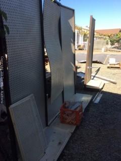 (5) Panels of Pegboard Display Rack