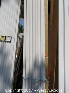 "(2) Fluted Poly Pilasters 99"" x 9.5"""