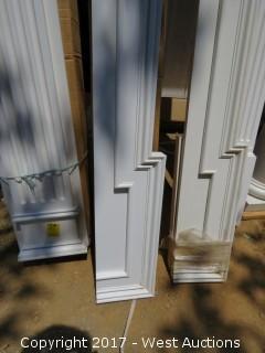 "(4) Poly Corner Pieces Top Molding 8' x 6"""