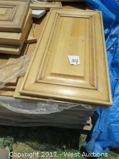 Pallet of Assorted Wooden Cabinet Doors